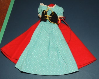 1964 Barbie Little Red Riding Hood Dress, Corset and Cape #880