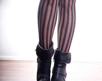 Vintage High Quality Black Lattice Stockings Tights Pantyhose