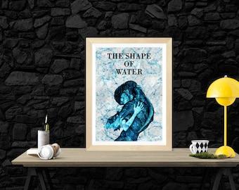 The Shape of Water Minimalist Alternative Movie Print Poster