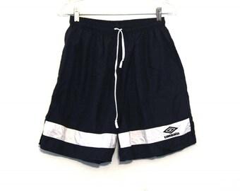 Vintage 90s Umbros shorts navy blue soccer