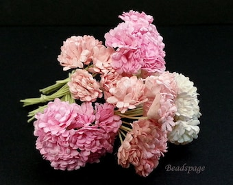 Dollhouse Miniature Flowers - Sweet Pink White Peach Bouquet Shabby Chic Petite Decoration for 1/12 ~ 1/6 scale (see item details)