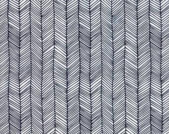 Catnip Kitten Lines in White,  Gingiber, 100% Cotton, Moda Fabrics, 48234 11