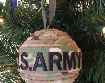 Army Uniform ball ornament. OCP or ACU