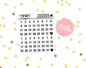 Foiled - Date Dots