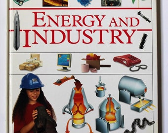 "CLEARANCE 50% Vintage Childrens Book Science ""Energy and Industry"" Picturepedia DK Dorling Kindersley School Library Home Schooling Books"