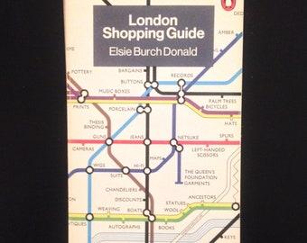 London Shopping Guide - Elsie Burch Donald • Penguin Handbook • vintage paperback book • 1976