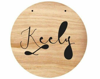 Custom Fancy cut out name plaque. Nursery / childrens room decor. Laser cut timber / Wooden plaque / Sign.