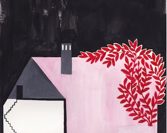 Pink House #1 by Ana Frois . digital print