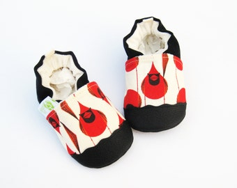 Organic Vegan Cardinal / non-slip soft sole baby shoes / made to order / Babies Toddlers Preschool