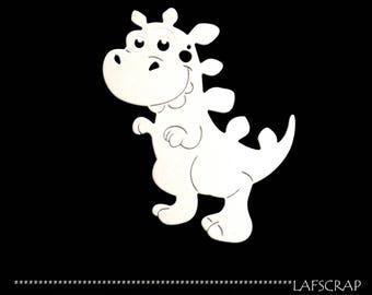 Découpe scrapbooking scrap dinosaure animal bébé naissance préhistoire découpe papier embellissement die cut création