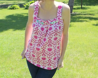 Sis Boom Dana Top Women's Blouse Sewing Pattern, PDF E-Book with Scientific Seamstress