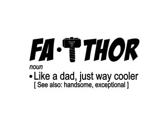 Father's Day! | FA-THOR Superhero (Includes 2 Version!) SVG File!
