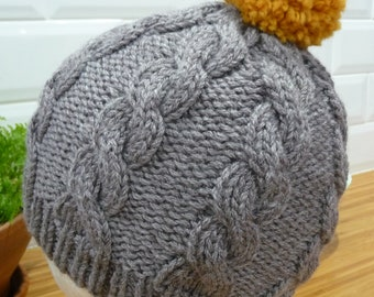 Bamboo & Pure Wool Cable Hat - 1853