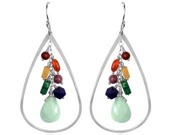 Chakra Raindrop Earrings