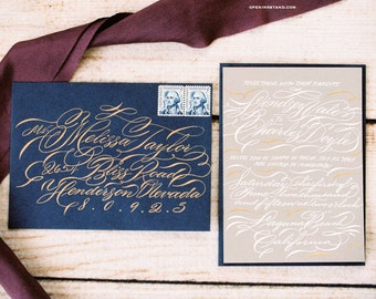 Envelope Calligraphy Addressing  Handwritten modern wedding
