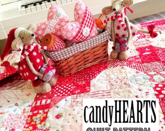 candyHEARTS quilt pattern by emily ann's kloset PDF