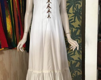 Junior womens small vintage ceci hippie lined maxi dress