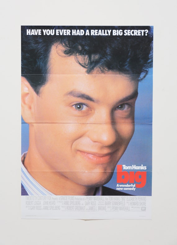 Original Theatrical One Sheet Film Poster - Big 1988, Tom Hanks