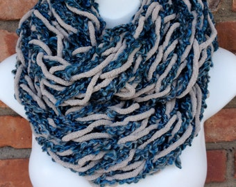 Chunky Arm Knit Chenille Infinity Scarf Cowl Snood