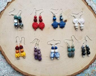 Customized Gemstone Essential Oil Diffuser Earrings
