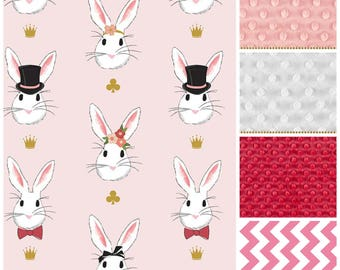 Bunny Baby Blanket,bunny gifts for girls,Toddler Girl blanket,pink and gold baby blanket,Pink Bunny Blanket,baby shower gift girl,pink baby