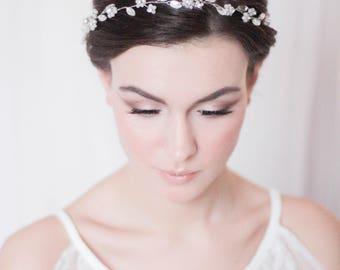 Bridal Hair Wreath Bridal Hair Vine Bridal Headpiece Wedding Hair Vine Bridal Hair Piece Crystal Hair Vine Leaf Hair Vine Bridal Wreath Halo