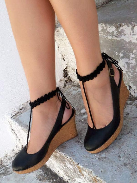 Barefoot Sandals Black Nude Shoes Barefoot Walk-7409