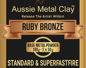 Aussie Metal Clay Ruby Bronze Standard 100 gram powder
