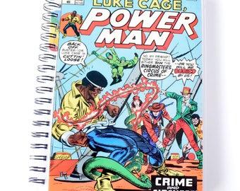 Luke Cage Power Man Comic Journal & Sketchbook // Recycled Vintage Comic