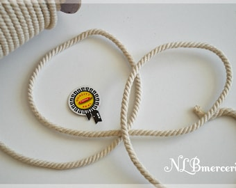 Beige braided cotton rope 5 m, 6 mm or 8mm - 4 m