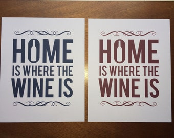 Home is Where the Wine is – 8x10 Print