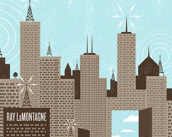 Ray LaMontagne gig poster