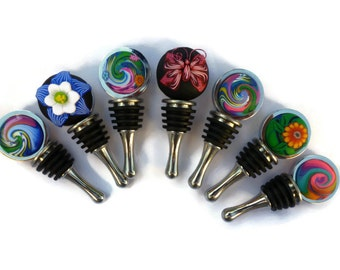 Stainless Steel Bottle Stopper- variety of choices Art on one side