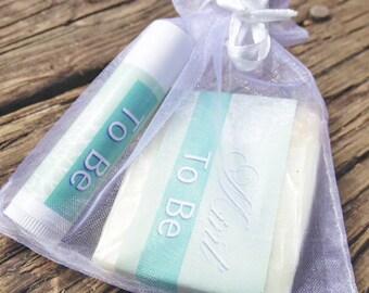 Wedding Favor Gift Set - Wedding Soaps - Bridal Shower Favors - Mint To Be
