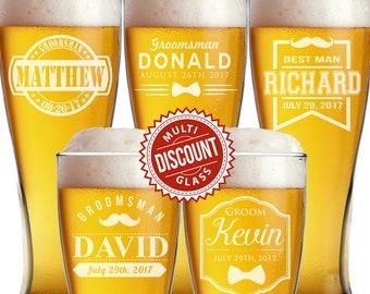 Pilsner Glass, Personalized Groomsmen Gift, Beer Mugs, Personalized Beer Glasses, Etched Beer Glasses, Groomsmen Beer Glasses, Beer Stein