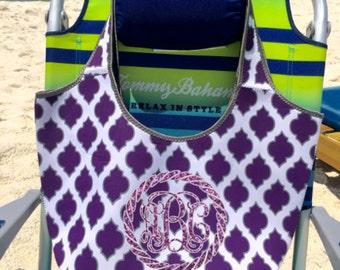 Beach Bag, Monogram Beach Bag, Personalized Bag, Tote Bag, Overnight Bag, Neoprene Bag, Travel Bag, Monogram Tote Bag