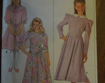 Butterick 4146, sizes 7-10, girls, dress, UNCUT sewing pattern, craft supplies