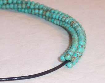 Turquoise Beaded Necklace - FREE SHIPPING
