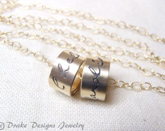 custom name necklace gold filled mom necklace with name