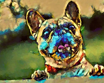 Custom Pet Portrait-1 Pet Abstract Pop painting