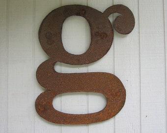 """Big Metal letter """"g"""""""