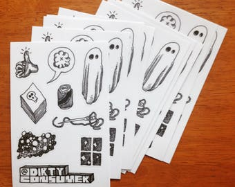 Random Dust Sticker Sheet.