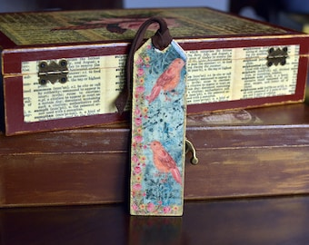 Unique Bookmark,Jeweler Resin Bookmark,Resin Bookmark,Bird Bookmark,Rose Bookmark,Colorful Bookmark,Literary Bookmark,Decorated Bookmark