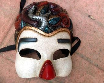 Clown Mask - Handmade clown latex mask for carnival, cosplay , costume