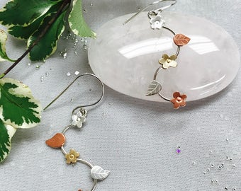 Mixed Metal Forget Me Not Earrings