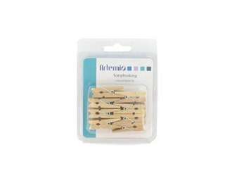 16 mini clothespins 35 mm - Clothespin - wooden clamp - 11006063