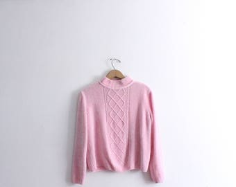 Baby Girl Pink Chenille 90s Sweater