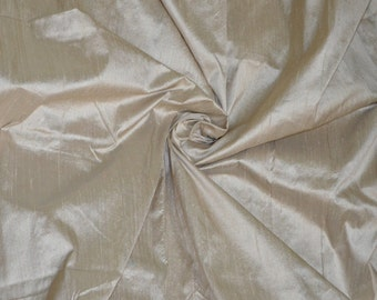 Silk Dupioni in Tan, a pale tone of brown - Extra wide, half yard - DEX 308