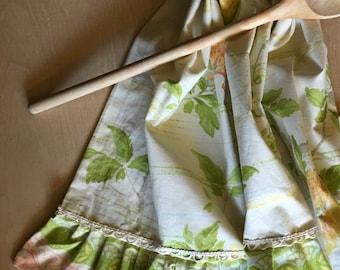 Cotton Tea Towel, Large Dish Towel, Vintage Textile, Hand Towel, Kitchen Towel, OOAK, European Cotton Towel