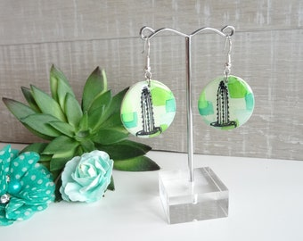 Resin cactus earrings